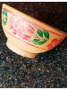 Clay Bowl / Payala Flower (Face 15 cm X Height 7.5 cm) (Free post in UK)