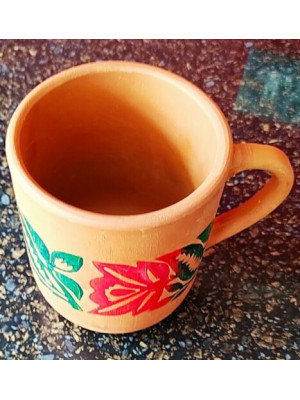 Clay Mug (Height 10cm X Face 8cm ) (Free post in UK)