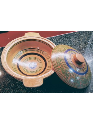 Clay Cooking Wok (Kadai) with lid | Clay Pots