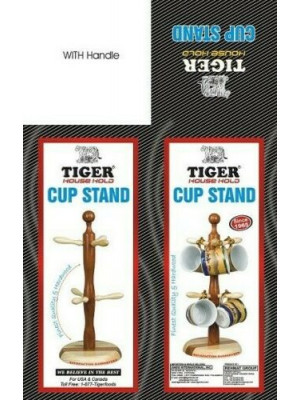 Cup Stand made by wood (Tiger Brand) (Free post in UK)