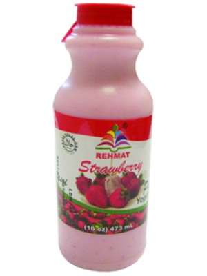 Rehmat Strawbarry Yougat drink (Lassi) 16 oz Rehmat Brand
