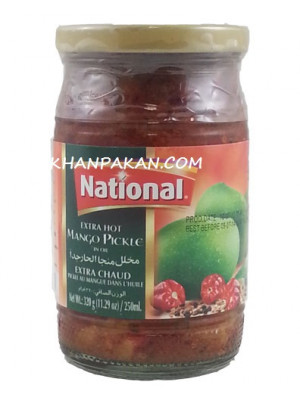 National Extra Hot Mango Pickle 320 gm