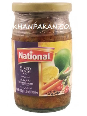 National Extra Hot Mixed Pickle 320 gm