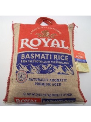 Royal WHITE Basmati Rice Premium Aged 10 lb