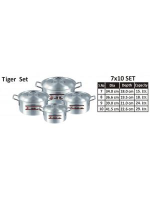 Aluminium Pots set  7 TO 10 Tiger COOKING POT 1×4