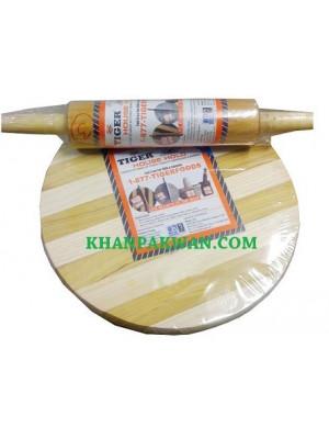 "Chapati Roti Board & Chakla Roller Dough Maker 10"" Cooking Roti"