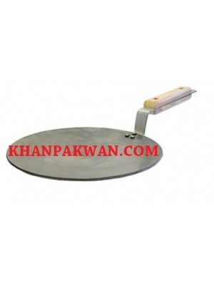Iron Tawa / Crepe / Pancake Pan with Pipe Handle 10