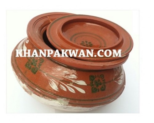 Clay Haandi with lid (Cooking Pot) made by Clay  (Tiger Brand)