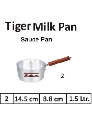 Aluminium Milk Pan Saucepan Pot With Wooden Handle  NO 2 Tiger Brand