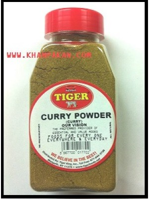 CURRY POWDER NO SALT, 7 OZ JAR FRESH NATURAL TIGER BRAND