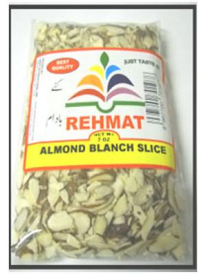 Almond Blanch Slice 7OZ  (200gm) Rehmat Brand