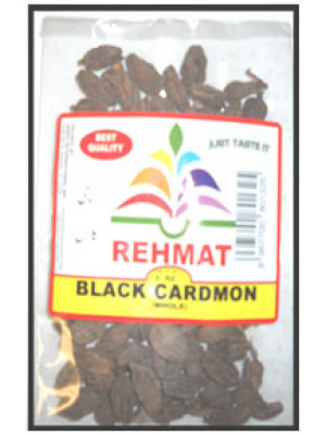 Black Cardamom Whole Sabut Kali Elaichi 7 OZ  (200 gm) Rehmat Brand