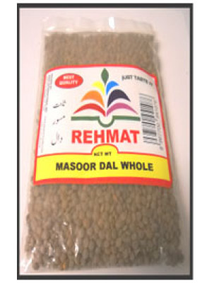 Brown Lentils (Dall Masoor Whole) Rehmat Brand 1 Kgs, 2 Kgs