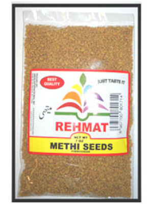 Methi Seeds or Methi Dana or Fenugreek Seeds 7 OZ  Rehmat Brand