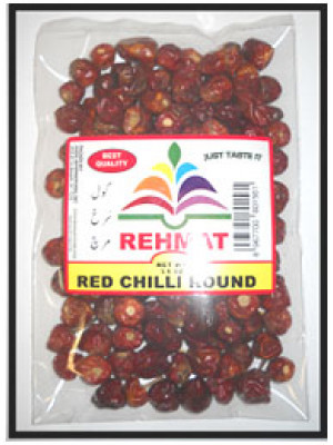 Red Chilli Round Whole 50g 100g 200g 300g Rehmat Brand