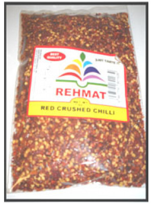 Red Chilli Crushed 7 oz   200 gm (Kutti Mirch)  Rehmat Brand