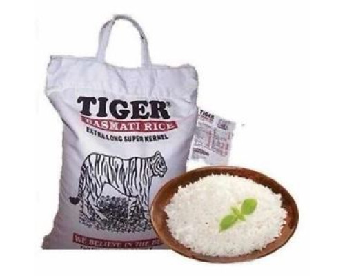 Rice Basmati 1 Kg Super Kernal |Tiger Brand | Free post in UK